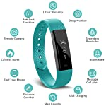 Muzili Smart Fitness Band Activity Tracker with Sleep Monitor, Pedometer Calorie Counter 14 Sport Modes for iPhone and...