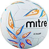 Mitre Ultra Agarre, Netball, Unisex, Ultragrip, White/Cyan/Orange
