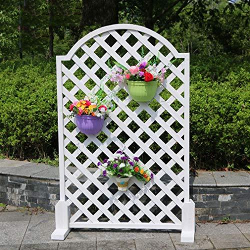 yangxiao01 Blumenständer Holz Gitter Abgerundete Kante,Pflanzenrahmen Klettergerüst Zaun Geländer Blumen Rack,Geeignet für Innen/Innenhof/Balkon/Außen/Garten,110/140cm