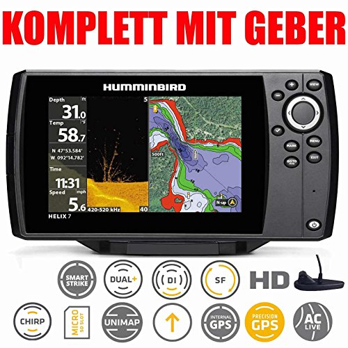 Humminbird Helix 7 Chirp GPS DI G2 Down Imaging Echolot Combo Festmontage