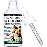 Vollkommen Natürliche Behandlung und Vorsorge bei Tierflöhen | Flea Fighter Lösung für Hunde und Katzen | 1-Jahres Menge | Wirksame und sichere Formel | Kontrolle Flöhen, Zecken und Läusen