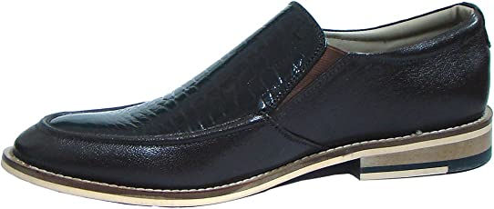 ASM Handmade Brown Leather Slip on Shoes with Handmade Neolite Sole for Men.