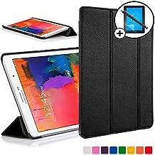 Forefront Cases® Samsung Galaxy Tab PRO 8.4 SM-T320 Funda Carcasa Stand Smart Case Cover Protectora Plegable de Cuero – Función automática inteligente de Suspensión/Encendido + Lápiz óptico y protector de pantalla