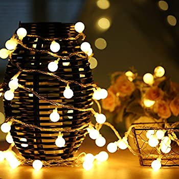 uping string light 100 globe balls fairy lights of 12m dc 31v low voltage transformer 8 modes party garden christmas halloween holiday wedding