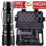 10000 Lumens LED Taschenlampe, 5 Modi XM-L L2 Taschenlampe Mit Batterie und Fall By huichang