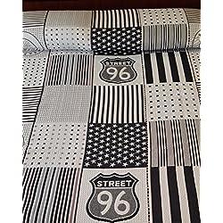 COTTON ART- Colcha PIQUE REVERSIBLE Mod. KENDALL 002 cama de 90 (180 x 260 cm). 50% ALGODÓN-50% POLIÉSTER