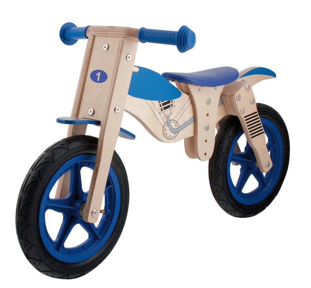 Messingschlager Moto Primabici senza Rotelle, Blu