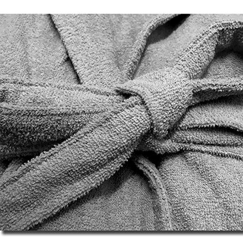 HOMELEVEL Frottee Bademantel Reisebademantel 100% Baumwolle Bademantel S - 6 XL Frauen Männer Damen und Herren Morgenmantel Übergrößen Saunamantel Reise Morgenrock
