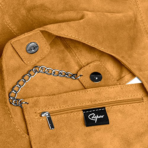 CASPAR Fashion, Borsa a spalla donna cognac