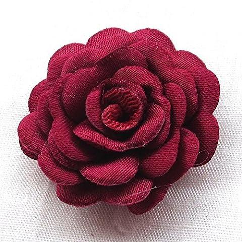 juqian feutre rembourré Ruban fleurs à nœuds Pivoine Craft Supplies (Imbottito Applique Craft)