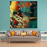 #10: 999Store Unframed large printed grunge vintage canvas painting (120x120cms)