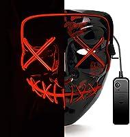 AUGOLA Halloween Led Máscaras, Purga Mascara Led Mask 3 Modos de Iluminacion para Halloween Navidad Cosplay Grimace...