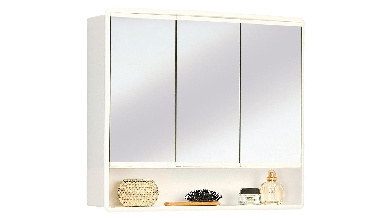 JOKEY Spiegelschrank Lymo Breite 59 cm weiß: Amazon.de: Küche ... | {Spiegelschrank mit beleuchtung und ablage 92}