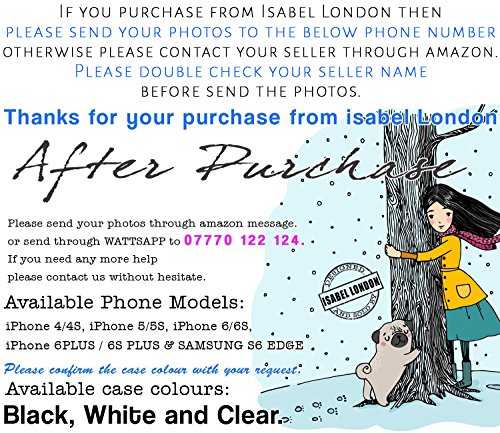 Personalised Photo collage Phone case for iPhone 4/4S, 5/5S, 6/6S, 6 plus & S6 Edge (Rubber, iPhone 5 ans 5S) by Isabel London iPhone 5 ans 5S