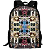 Madonna Collage 3D Print Backpack College School Laptop Bag Daypack Travel Shoulder Bag for Unisex