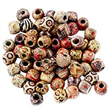#7: Imported 100pcs 12mm Mixed Round Wooden Beads for Jewelry Making Loose Spacer Charms