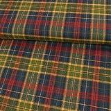 Stoffe Werning Flanell Baumwolle Karo grün blau rot