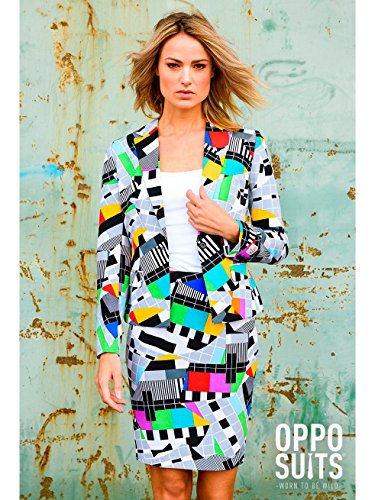Donne Opposuit Testival, taglia 42, costume Televisione Blazer Gonna Carnevale film TV