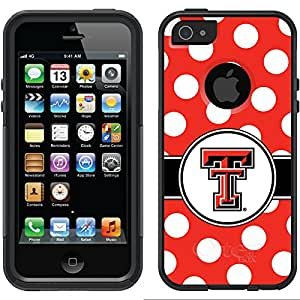 Coveroo Texas Tech Polka Dots Design Phone Case for iPhone 5/5s - Retail Packaging - Black/Black