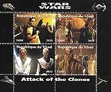 Star Wars El Ataque de los Clones miniatura Hoja sello de colección / 2015 / Chad