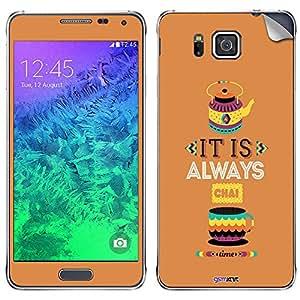 GsmKart SGA Mobile Skin for Samsung Galaxy Alpha (Brown, Galaxy Alpha-793)