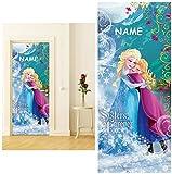 alles-meine.de GmbH Fototapete -  Disney die Eiskönigin / Frozen  - Incl. Name - 211 cm x 91 cm ..