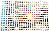 Perlin - 308 Sticker Aufkleber Set Selbstklebend 8mm Etiketten Zum Basteln Scrapbook für Phone Deko Cabochon Album Hobby Design