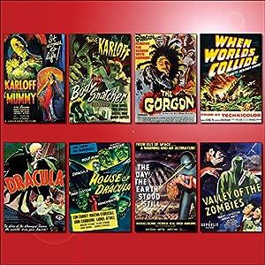 Classic B Movie Film Poster Kühlschrankmagnete – Set von 8 großen Kühlschrankmagnete No.3