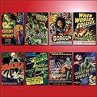 Classic B Movie Film Poster Kühlschrankmagnete - Set von 8 großen Kühlschrankmagnete No.3
