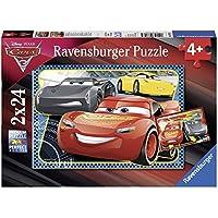 Ravensburger - Puzzle 2 x 24 Piezas, Cars 3 (07816)