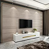 YUANLINGWEI Einfache Wohnzimmer Schlafzimmer Film Wand Tapete 3D Dreidimensionale Streifen