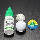 Kungfu Mall CO2dióxido de indicador Detector de concentración de jardín acuario gota de largo tiempo de Monitor de Carbono para