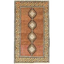 Gabbeh Nomaden Teppich Orientteppich 200x110 cm, Läufer Handgeknüpft Modern