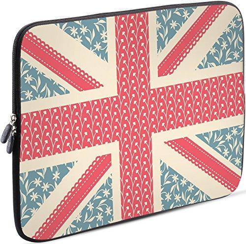 Sidorenko Laptop Tasche für 15-15,6 Zoll | Universal Notebooktasche Schutzhülle | Laptoptasche aus Neopren, PC Computer Hülle Sleeve Case Etui, Rosa/Blau