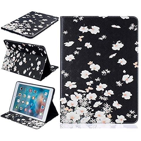 iPad Pro 9,7Étui, yoowei® Coloré Peint à la main portefeuille en PU imitation cuir à clapet avec porte-cartes pièces d'identité billets fentes support Housse de protection pour iPad Pro 24,6cm iPad Pro 9.7