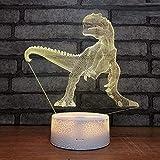 L2eD 3D Illusion Lampe Led Nachtlicht Usb/Batteries Tischlampe 7 Farben Berührungsschalter Acryl & USB Basis & Kind Riese Riese Bestie