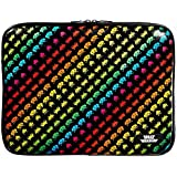 Space Invaders 15-Inch Mac Book pro Vinyl Sleeve with Zip, Multicolor