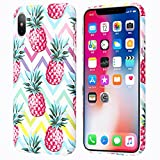 Eouine Couqe iPhone 8, Coque iPhone 7, Dur avec Tropical Fruit Motif PC Plastique...