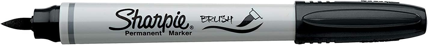 Sharpie Brush Tip Permanent Marker - Brush tip - Black ink - (Pack of 1)