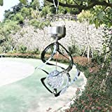 YaXuan Luz Solar, Timbre de Viento LED Color cambiante Colgante luz Solar Decorativa Powered LED Viento Spinner luz para jardín Yarda 1Pcs