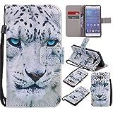 Nancen Samsung Galaxy Grand Prime SM-G530 G531F (5 Zoll) Hülle / Handyhülle, Painted Tier PU Leder Tasche Schutzhülle