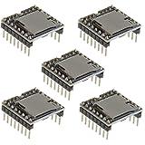 ICQUANZX 5 unidades YX5200 DFPlayer Mini reproductor MP3 módulo de decodificación de voz MP3 tarjeta TF U-Disk IO/puerto seri