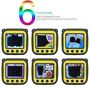 Ourlife Niños Cámaras Deportivas, Cámara de Acción para Niños con Tarjeta de Memoria 8GB (Amarillo)