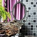 Große europäischen Stil Spiegel Hochwertige Retro Beidseitige Rotierende nette Prinzessin Desktop-Make-up-Rasierspiegel