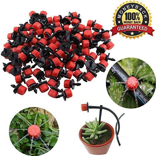 100Pcs Kunststoff verstellbar Micro Tropfbewässerung Bewässerung Werkzeug anti-clogging Emitter Tropfer Emitter Link