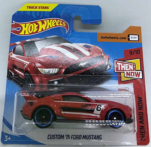 Hot Wheels 2018 Custom '15 Ford Mustang Red 9/10 Then and Now 96/365 (Short Card)