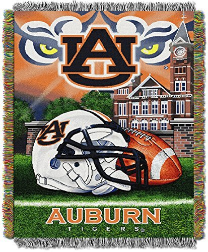 Auburn University Tigers Throw Blanket Afghan Tapestry by Northwest University Tigers