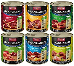 animonda GranCarno dog food, wet food for adult dogs, different varieties, mix 2, 6 x 800 g