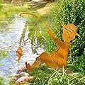 Gartenstecker Angler - Edelrost Gartendeko - Rost - Höhe ca. 64 cm von PureDay - Du und dein Garten