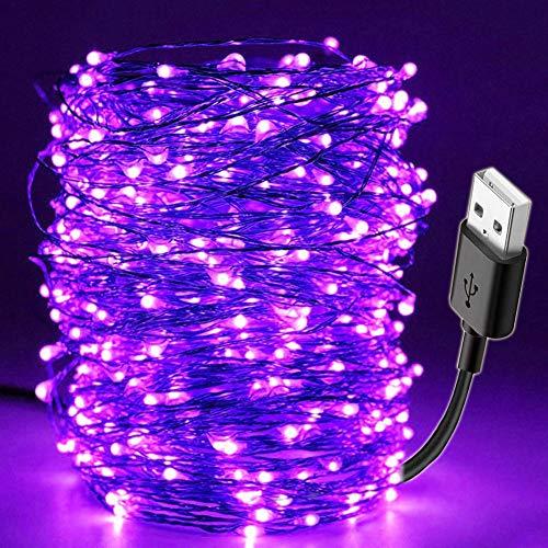 Cadena de luz LED, USB, impermeable, Navidad, Halloween, fiesta, lámpara de barra DIY, escenario, casa...